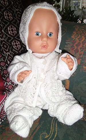 Strikkede sæt til dukker forsk str se foto