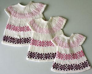 strikkeopskrift kjole børn